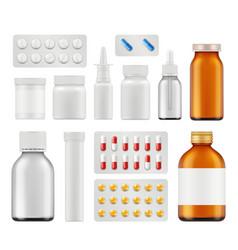 medical pills healthcare capsule antibiotic vector image