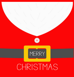 merry christmas santa claus coat costume with vector image