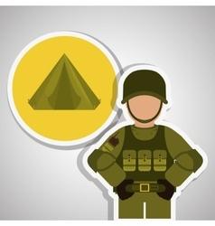 Military tent design vector