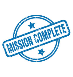 Mission complete grunge stamp vector