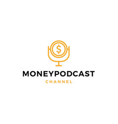 money podcast logo icon for monetize blog video vector image