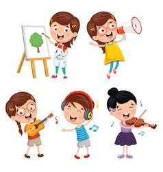 of kids art vector image