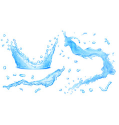 opaque water splashes and water crown vector image