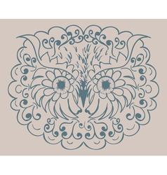 Ornamental Owl Head2 vector image