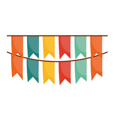 pennants decoration party isolated icon design vector image
