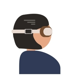 Person with flying goggles icon vector