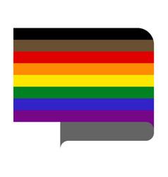 Philadelphia pride flag or lgbtq vector
