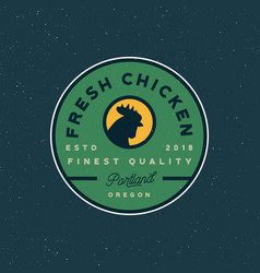 premium fresh chicken meat label vector image