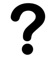 Question flat black color icon vector