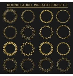 Round wreath set vector image