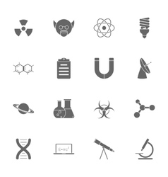 Science silhouette icons set vector image