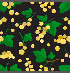 seamless pattern with cartoon white currant vector image