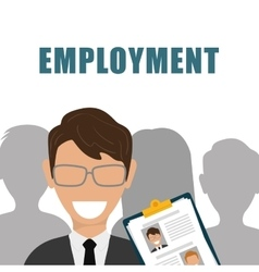 Search and find employment vector image