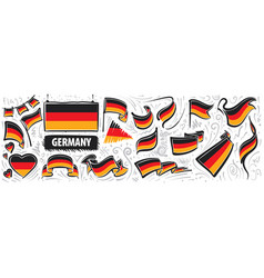 set national flag germany vector image