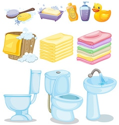 Set of bathroom equipments vector