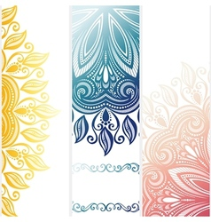 Set patterned banners vector