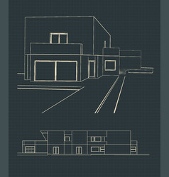sketch of a modern house vector image