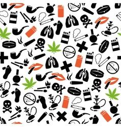 Smoking seamless pattern vector