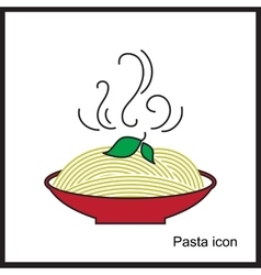 Spaghetti or noodle simple icons vector image