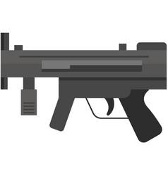 submachine rifle isolated on white vector image