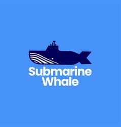 Submarine whale humpback logo icon vector