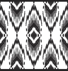 Tribal ikat pattern in black and white colors vector