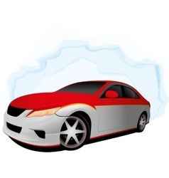 Two color fast car vector