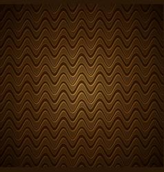 vintage gold wavy pattern vector image