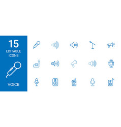 Voice icons vector