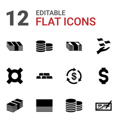 Wealth icons vector