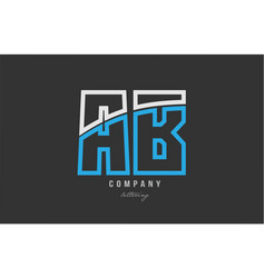 White blue alphabet letter ab a b logo icon design vector