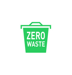 Zero waste icon green urn eco label green emblem vector