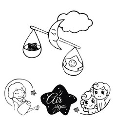 air signs of the zodiac vector image vector image