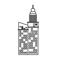building facade apartments outline vector image