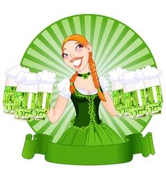 Saint Patricks Day Girl vector image