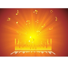 Gold Music Background vector image