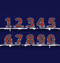 number winter classic on the snow vector image