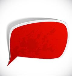 Red grunge speech label design vector image