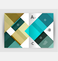 set of front and back a4 size pages business vector image vector image