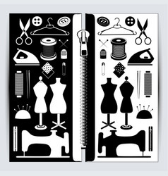 sewing accessories set vector image