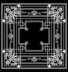 Black Ornate Frame Quad vector image vector image