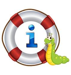 Caterpillar Information Kiosk Sign vector image vector image