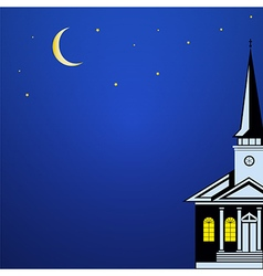 Christmas landscape with Church Spire vector image vector image
