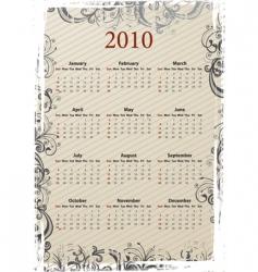 grungy calendar 2010 vector image