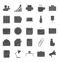 Office and marketing silhouettes icons set vector image