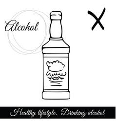 outline alcoholic beverage icon a symbol vector image vector image