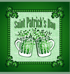 st patricks day greeting card background vector image