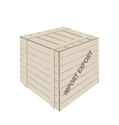 A Wooden Cargo Box for Freight Transportation vector image