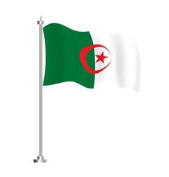 Algerian flag isolated wave flag algeria vector