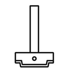 Architect ruler icon outline style vector